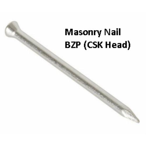CSK HEAD MASONRY NAILS BZP Pack of 100